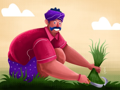 farmer character 8 villagelife character illustration 2d vector illustration illustration character design trending illustration character illustration flat character illustrations 2020trending illustration character design illustration