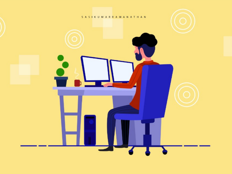 #Office #workplace illustration