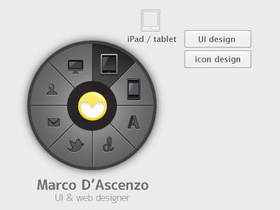 Circular menu ui design menu circular
