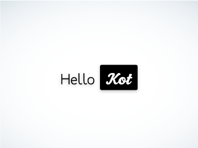 Hello Kot logo logo design