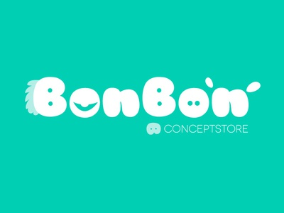 BonBon Conceptstore for Kids logo design kids store