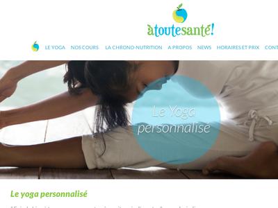 A Toute Santé  website design web header
