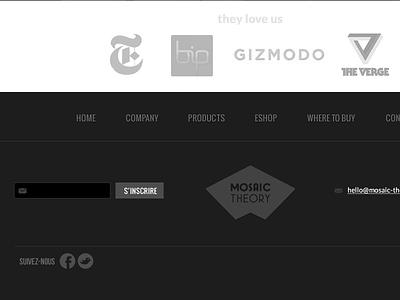 MT footer footer design website menu