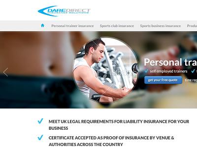 Home draft web design homepage slider button