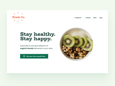 Ran Segall Web Challenge - Day 1 web ui fruits organic foods organic fruit mobile desktop challenge landing page figma web design ran segall