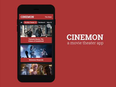 Cinemon - A Movie Theater App (Concept)