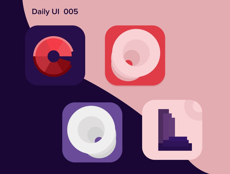 Daily ui 005,  icons for app