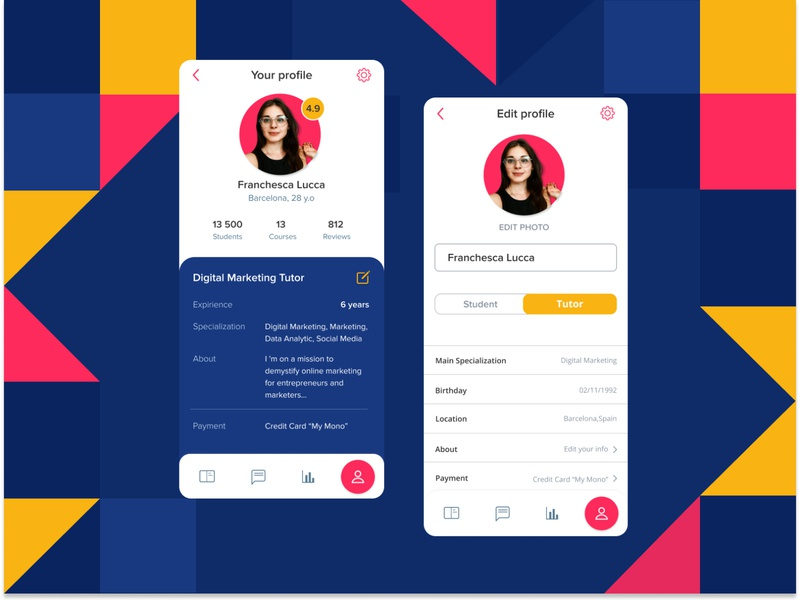 User Profile, Daily UI 006