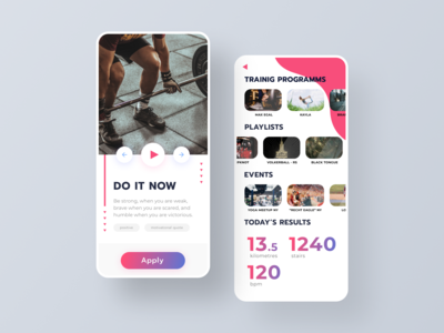 Sport App Portal - mobile application design