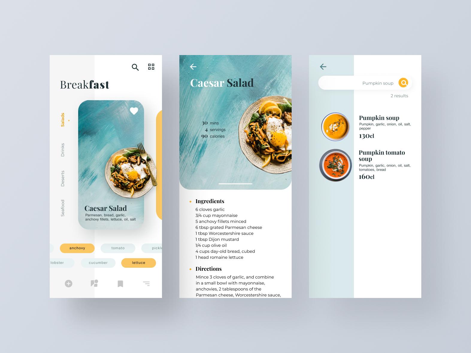 Recipe App design ux ui mobile app system mobile design app design app mobile recipe design recipe app