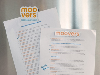 Get Mooving focus lab brand strategy moving logotype collateral checklist orange fridge brand refresh magnet moving company die cut