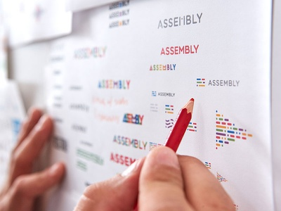 Assembly Brand Identity focus lab brand strategy startups discovery brainstorming mindmapping moodboard legwork identity