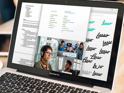 Hey Lasso strategy script brand visual identity proposal tool lasso brand strategy focus lab