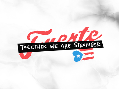 Puerto Rico Strong design for a cause hurricane relief puerto rico charity community strength focus lab