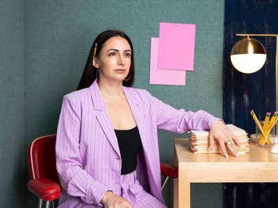 Bragging rights women in design power suit conceptual photography photoshoot milestone strategist strategy design visual identity identity branding brand strategy focus lab