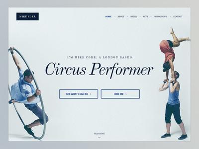 Circus Performer Website