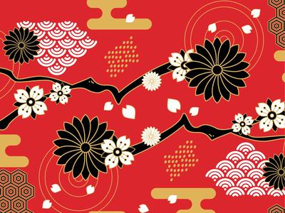 Japanese flowery pattern