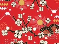 Japanese flowery pattern 2