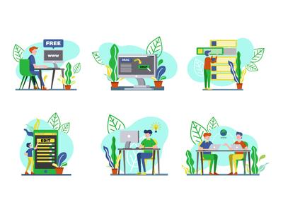 Landing page illustrations