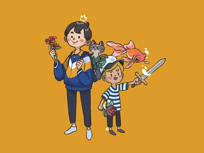 flowery knight boys