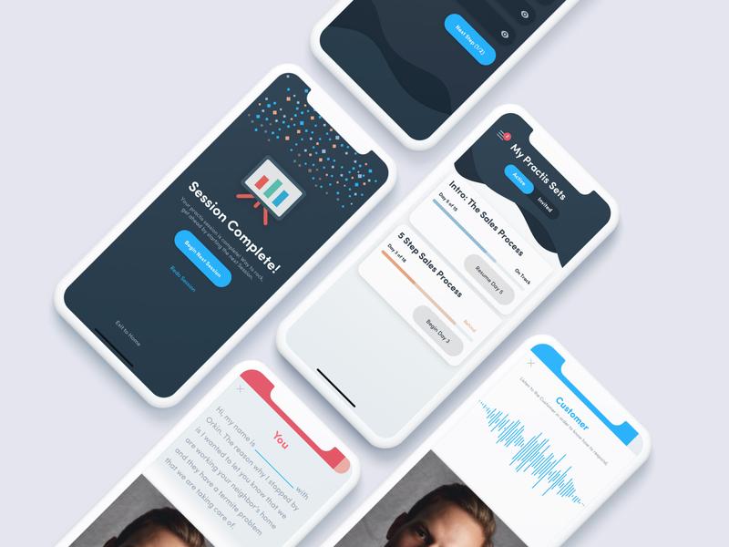 Practis: Customer Interaction Training Tool app app design ios app design uxdesign uiux iphonex ios13 ios app training ui