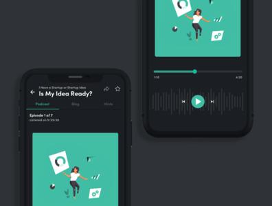 Podcast - Dark Mode app iphonex design ios14 dark mode podcasting podcast ux uiux ui