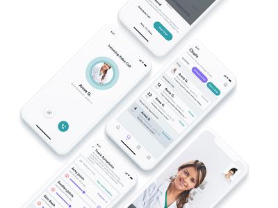 Medical App - Schedule Call symptoms track schedule chat nav design ui ux app iphonex