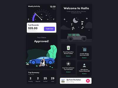 Components for Rideshare App rewards ios14 darkmode components design ui ux app iphonex