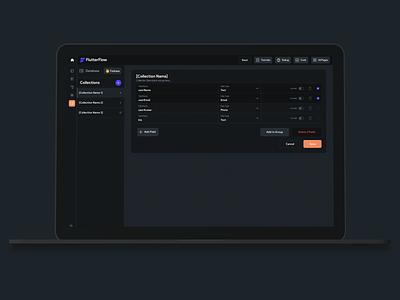 Flutterflow - No Code Builder for Flutter Apps saas app navbar navigation drag and drop app builder no code saas design saas product saas nav dashboard web app ux ui