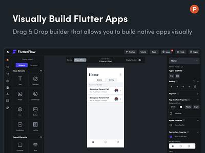 FlutterFlow on Product Hunt product design flutter web ux design app builder nocode app design app uiux ui producthunt