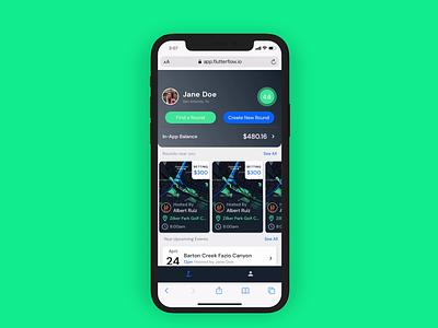FlutterFlow - Shared Prototype prototype uidesign ui golf ui golf appdesigner appdesign flutter flutterflow nocode