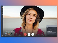 Web App / Video Meeting In Progress