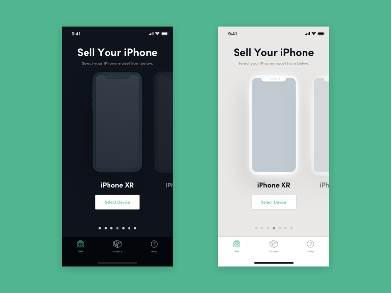 Light Vs Dark Mode ux design marketplace iphonex iphone dark ui nightmode uiux ui