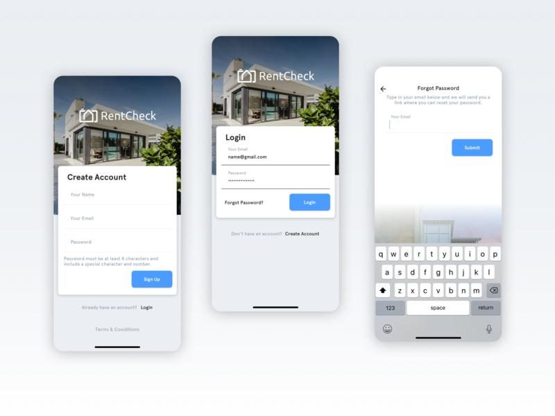 Small App Design Project buttons login form user experience ios13 iphonex register login uiux app design