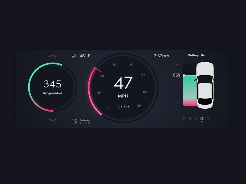Car UI Dashboard dark mode night mode car dashboard mph dark car ui dark ui speed battery speedometer car ui
