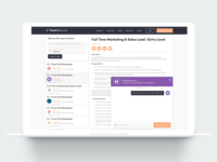 Recruiting website desktop version
