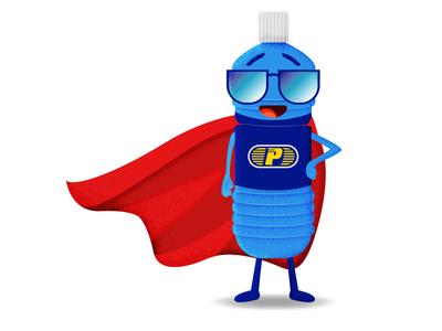Cartoon Character Bottle Mascot