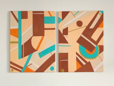 Floriane Pina │Rough Lines - Diptych
