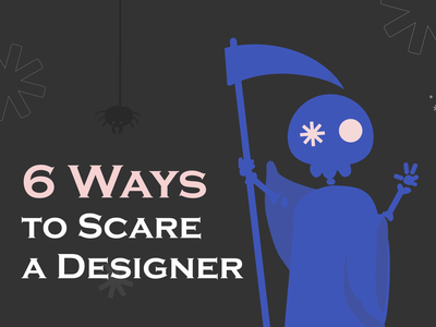 Halloween 🎃 Designers 👩‍🎨 Monsters! 👺 flat illustration branding blog design social media