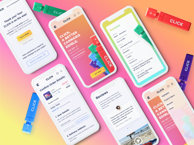 Mobile UI Design — Cannabis Brand bright colors colors cannabis design mobile web mobile web design uiux daily ui dailyui ui  ux mobile ui design mobile ui ux mobile design mobile ui mobile web design ui design website designer ui design