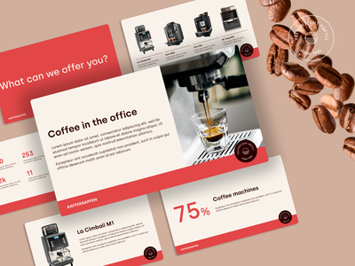 Presentation Template — Coffee Machine Delivery business web sale clean design clean sales presentation minimal product graphicdesign coffee advertising presentation design presentation template presentation branding illustration designer graphics graphic design design