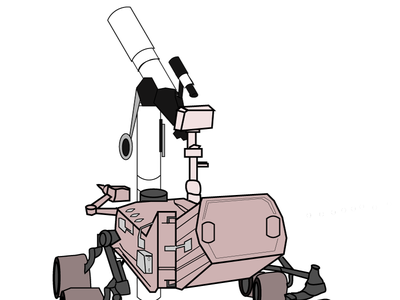 The Mars Rover, Looking Longingly Back at Earth illustration