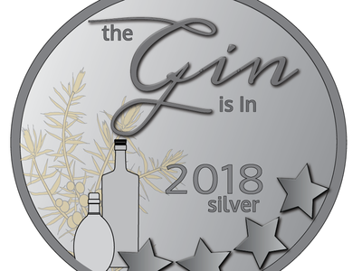 The Gin is In, Silver Medal 2018 badges illustration silver medal