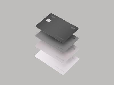 Zero quartz graphite magnesium carbon metal chip visa 3d render card bank zero