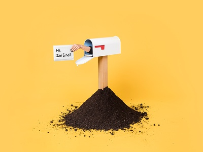 Nylas hi mailbox dirt hand email mail art direction photography photo