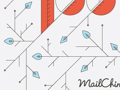 Lines & Lettering leaf letter mailchimp red line