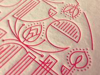 Letterpress Lotuses