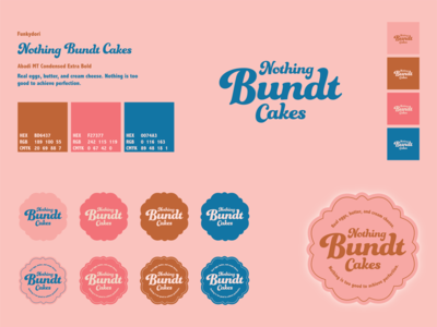 Nothing Bundt Cakes - Rebrand Concept cute bakery illustrator logo design pink nothing bundt cakes concept rebrand