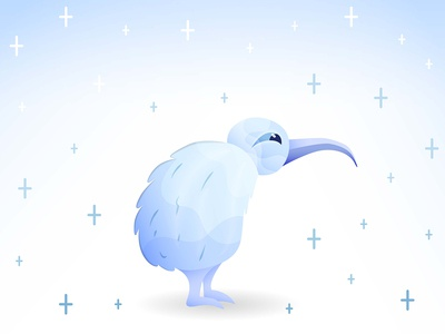 Frozen Kiwi the Bird