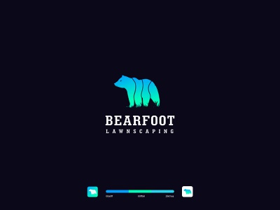 BearFoot Logo illustrator minimal flat icon typography vector branding logo design illustration